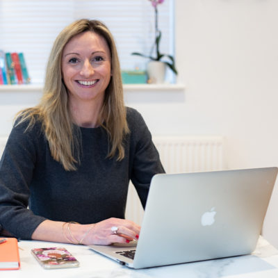 Personal branding photo shoot. Brand your business. Home studio session in Woking. Working with laptop