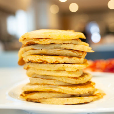 Pancakes, birthday breakfast, American pancakes, fluffy pancakes, breakfast