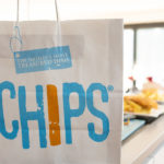 Fish and chips, The Ketch fish and chip shop, Fish and chip paper carrier bag