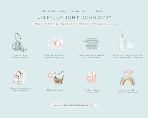 Surrey photographer, studio Covid safety procedures